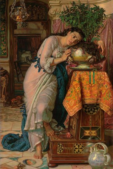 Isabella and the Pot of Basil, 1867-William Holman Hunt-Giclee Print
