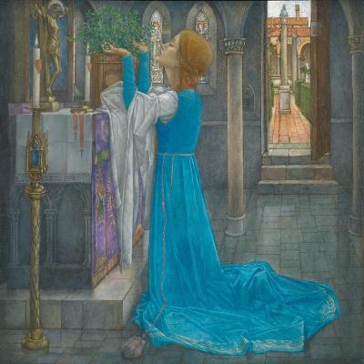 Isabella and the Pot of Basil-Edward Reginald Frampton-Giclee Print