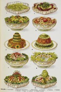 Assorted Salad Dishes by Isabella Beeton