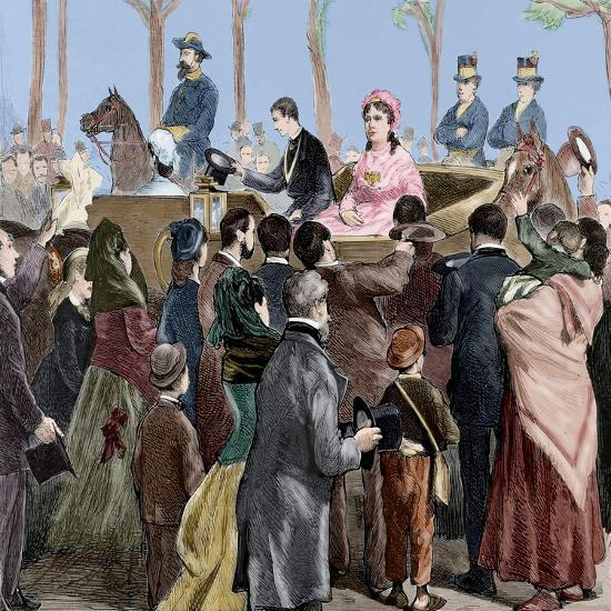 Isabella II of Spain (1830-1904) Arriving to Madrid, 1876-Tomás Capuz Alonso-Giclee Print