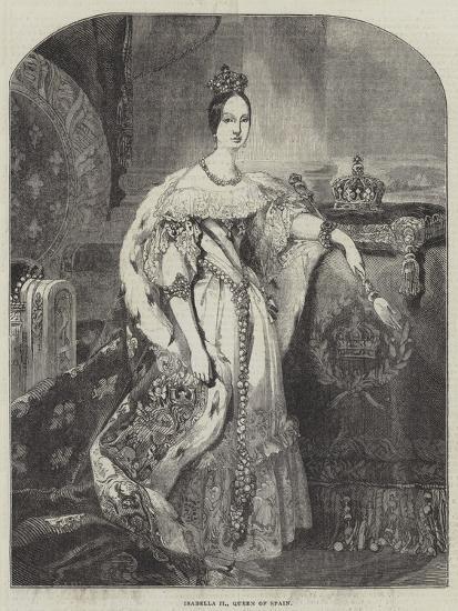 Isabella II, Queen of Spain--Giclee Print
