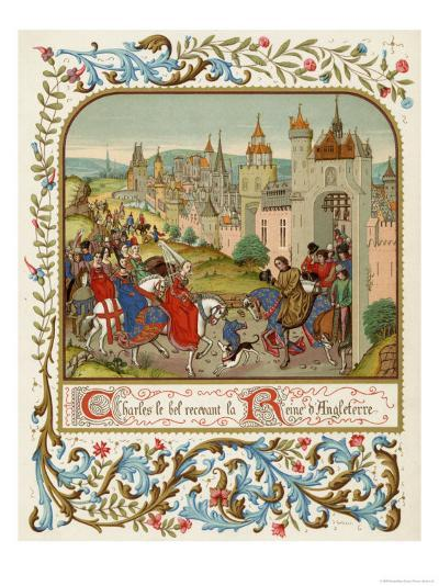 Isabella Queen of Edward II Flees to France and is Received by Charles le Bel- Ronjat-Giclee Print
