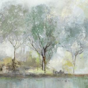 Teal Landscape by Isabelle Z