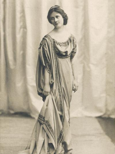 Isadora Duncan American Dancer in a Long Robe--Photographic Print