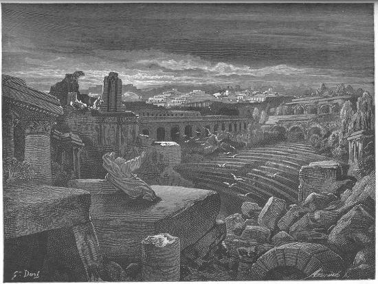 Isaiah's Vision of the Destruction of Babylon, 1897-Gustave Dor?-Giclee Print