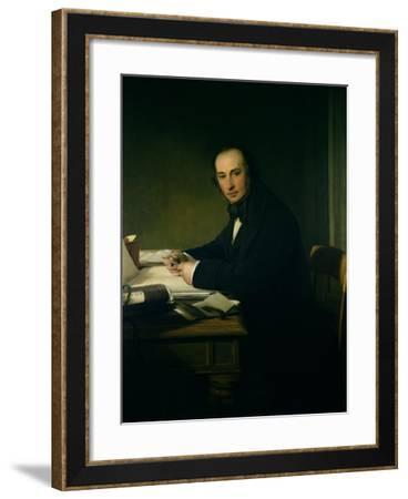 Isambard Kingdom Brunel (1806-59)-John Callcott Horsley-Framed Giclee Print