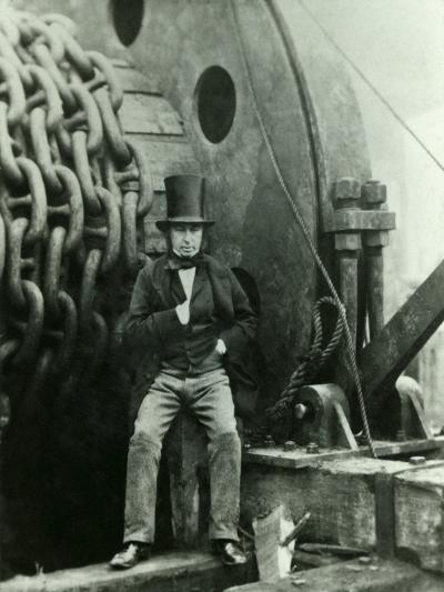 Isambard Kingdom Brunel and the Launching Chains of the Great Eastern, c.1857-Robert Howlett-Giclee Print