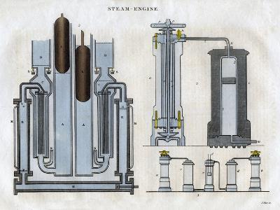 Isambard Kingdom Brunel's Steam Engine, 1827-J Pass-Giclee Print
