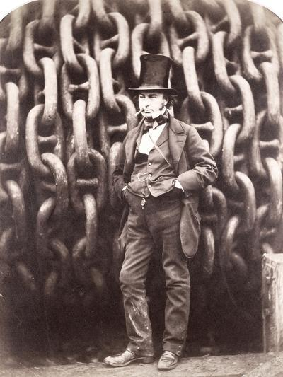Isambard Kingdom Brunel, Standing in Front of the Launching Chains of the 'Great Eastern', 1857-Robert Howlett-Giclee Print