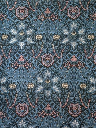 Isaphan Furnishing Fabric, Woven Wool, England, Late 19th Century-William Morris-Premium Giclee Print