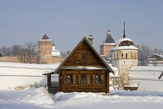 Isba, Traditional Wooden House Near the Convent of the Intercession in Suzdal, Golden Ring, Russia--Photographic Print