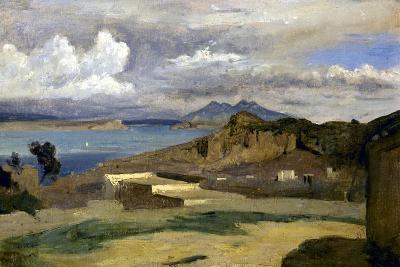 Ischia. Vue prise des pentes du mont Epomeo, au fond: Capri et le Vésuve-Jean-Baptiste-Camille Corot-Giclee Print