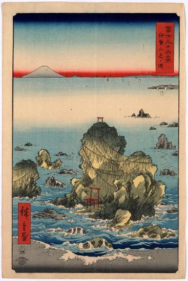 Ise Futamigaura-Utagawa Hiroshige-Giclee Print
