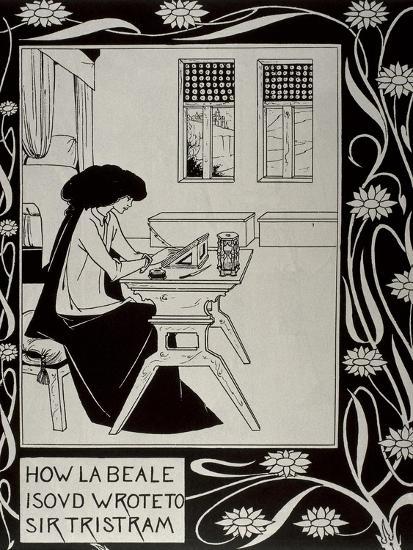 Iseult Writing to Tristan-Aubrey Vincent Beardsley-Art Print
