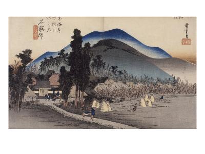 Ishiyakushi, le monastère-Ando Hiroshige-Giclee Print