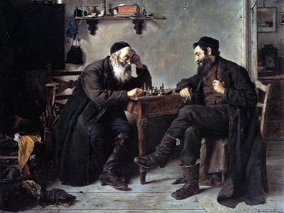 Chess Players by Isidor Kaufmann