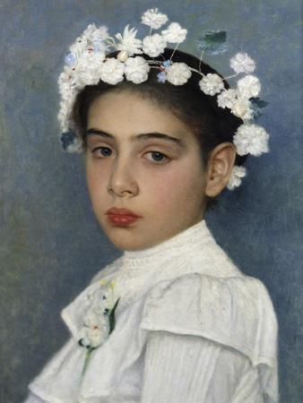 Girl with Flowers in Her Hair