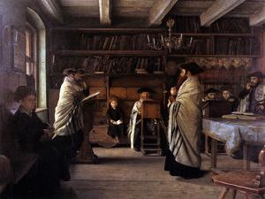 In the Beth Hamidrash by Isidor Kaufmann