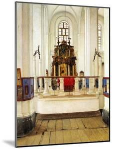 Interior of the Brody Synagogue by Isidor Kaufmann