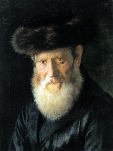 Old Man with Streimel by Isidor Kaufmann