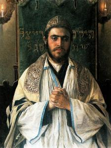 Portrait of a Pious Young Rabbi by Isidor Kaufmann