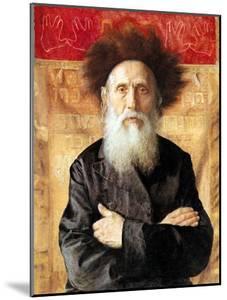 Portrait of a Rabbi before Torah Curtain by Isidor Kaufmann