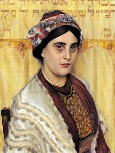 Portrait of a Woman in Festive Dress by Isidor Kaufmann