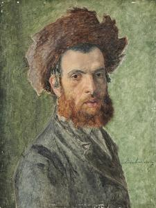 Portrait of a Young Hasidic Jew by Isidor Kaufmann
