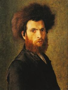Portrait of a Young Hassidic Jew by Isidor Kaufmann