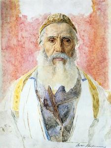 Rabbi in White Frock by Isidor Kaufmann