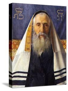 Rabbi with Prayer Shawl by Isidor Kaufmann
