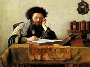 Studying the Talmud by Isidor Kaufmann