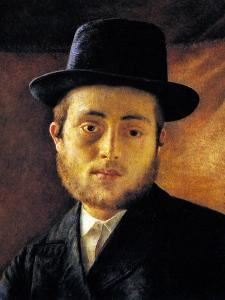 Young Man with Fedora by Isidor Kaufmann