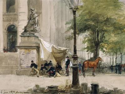 Encampment in Place De La Boure, June 4, 1871, During Siege of Paris