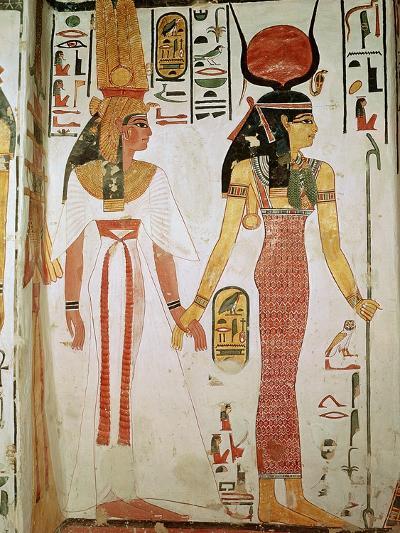 Isis and Nefertari, from the Tomb of Nefertari, New Kingdom (Mural)--Giclee Print