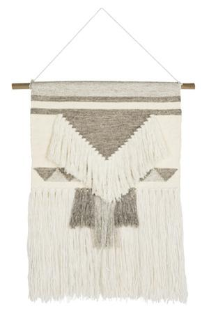 Isla Woven Wall Hanging - Ivory Brown