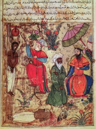 Fol.100 the Sultan Showing Justice, from 'The Book of Kalilah and Dimnah'