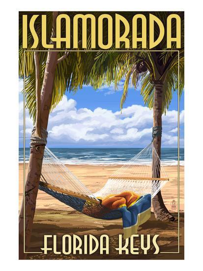 Islamorada, Florida Keys - Hammock Scene-Lantern Press-Art Print