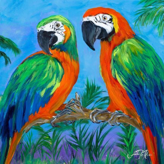 Island Birds Square I-Julie DeRice-Art Print