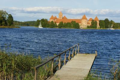 Island Castle of Trakai Near Vilnius, Lithuania, Europe-Bruno Morandi-Photographic Print