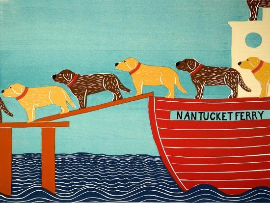 Island Ferry Nan Choc Yellow-Stephen Huneck-Giclee Print