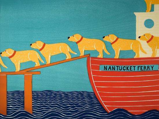 Island Ferry Nan Yellow-Stephen Huneck-Giclee Print