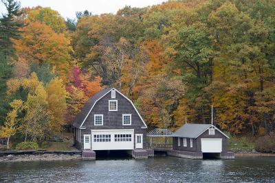 Island Home in Autumn, American Narrows, New York, USA-Cindy Miller Hopkins-Photographic Print
