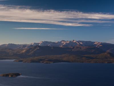 Island in a Lake, Lake Nahuel Huapi, San Carlos De Bariloche, Rio Negro Province, Patagonia--Photographic Print
