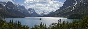 Island in a Lake, Wild Goose Island, Saint Mary Lake, Glacier National Park, Montana, USA