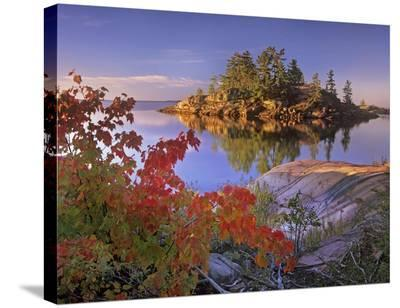 Island in Georgian Bay, Lake Huron, Killarney Provincial Park, Ontario-Tim Fitzharris-Stretched Canvas Print