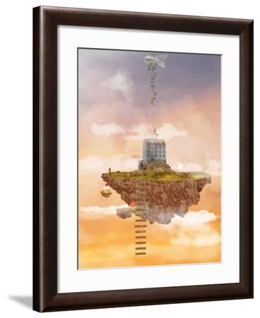 Island in the Sky. Illusion-Ganna Demchenko-Framed Art Print