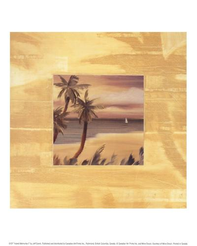 Island Memories I-Jeff Surret-Art Print
