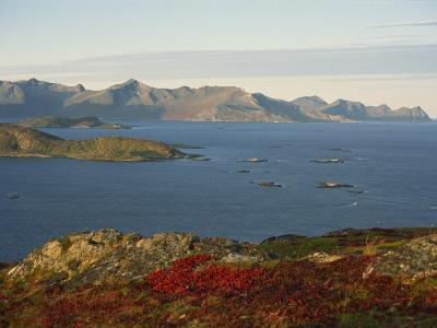 Island of Senja Viewed from Sommeroy, Near Tromso, Arctic Norway, Scandinavia, Europe-Dominic Harcourt-webster-Photographic Print