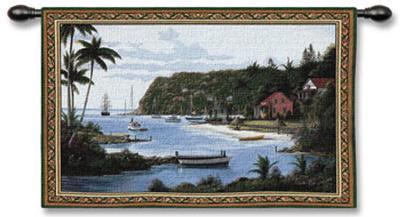 Island Paradise-Bill Saunders-Wall Tapestry